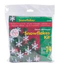 Holiday Beaded Ornament Kit-Mini Snowflakes 2\u0022 Makes 24