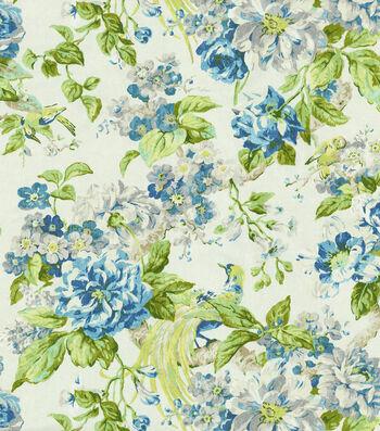 "Waverly Upholstery Fabric 54""-Cranford Porcelain"