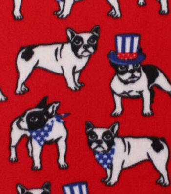 "Blizzard Fleece Fabric 59""-Uncle Sam Bulldog"