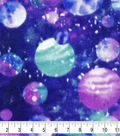 Anti-Pill Plush Fleece Fabric-Purple Galaxy