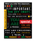 When You Enter this Classroom... Subway Art Chart 6pk