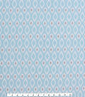 Blizzard Fleece Fabric -Diamond on Light Blue