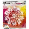 Carabelle Studio Art Printing Round Rubber Texture Plate-Street Art #2