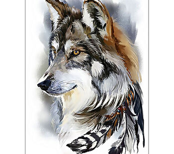 Collection D'Art Diamond Embroidery/Printed/Gem Kit 27X38cm-Wolf Spirit