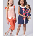 Kwik Sew Pattern K0221 Girls\u0027 Dress, Top, Capris-Size XXS-L