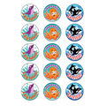Sea Animals-Blueberry Stinky Stickers Pack of 60, 12 Packs
