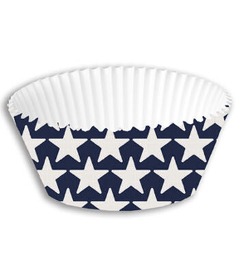 Americana Patriotic 50 pk Cupcake Wrappers-Stars