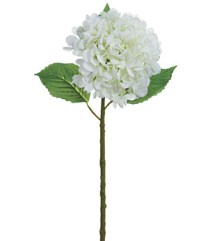Bloom Room 19'' Real Touch Hydrangea Stem-White