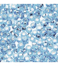 Glass Rocaille Seed Beads, Light Blue, 20 grams