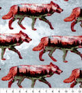 Snuggle Flannel Fabric-Wolves Double Exposed