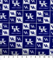 University of Kentucky Wildcats Cotton Fabric 43''-Block, , hi-res