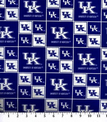 University of Kentucky Wildcats Cotton Fabric -Block