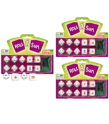 Junior Learning Roll-A-Sum, Pack of 3