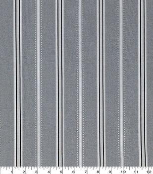 Keepsake Calico Cotton Fabric-Fun Stripes Gray
