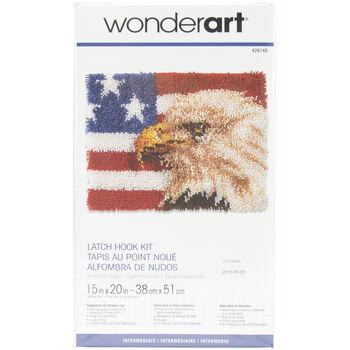 "Wonderart Latch Hook Kit 15""X20""-American Eagle"