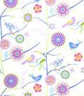 Home Decor 8\u0022x8\u0022 Fabric Swatch-Print Fabric Eaton Square Draw  Petal