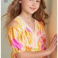 Simplicity Pattern 8352 Children\u0027s/Girls\u0027 Dress-Size K5 (7-8-10-12-14)