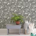 Wallpops Peel & Stick Wallpaper-Charcoal Merriment