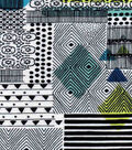 Snuggle Flannel Fabric -Multi Geometric Pattern