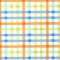 Snuggle Flannel Fabric-Blue, Green & Orange Plaid