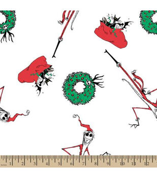 Nightmare Before Christmas Cotton Fabric-Wreaths