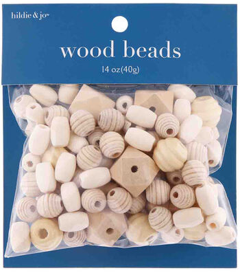 hildie & jo 14 oz. Assorted Wood Beads