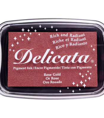Delicata Pigment Ink Pad-Rose Gold
