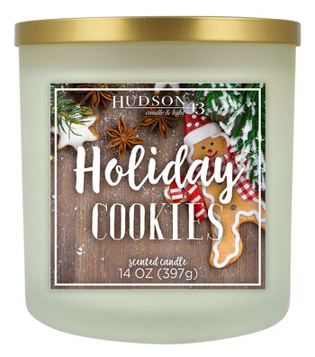 Hudson 43 Candle & Light 14 oz. Holiday Cookies Jar Candle