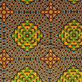 Global Cotton Shirting Fabric-Black X Circles