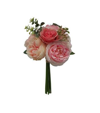 Fresh Picked Spring 13'' Rose & Hydrangea Bouquet-Pink