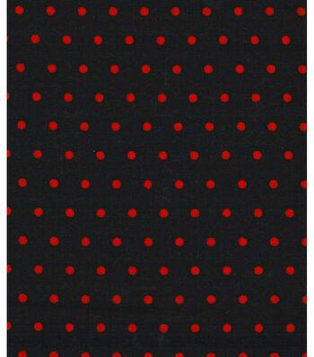 "Holiday Showcase Halloween Cotton Fabric 43""-Orange Dots"