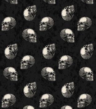 Maker's Halloween 60'' Round Tablecloth-Skulls