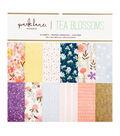 Park Lane Paperie 24 pk 12\u0027\u0027x12\u0027\u0027 Printed Cardstock-Tea Blossoms
