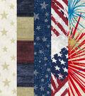 Fat Quarter 5 pk Cotton Fabric Bundle 18\u0027\u0027x21\u0027\u0027-Patriotic Stripes