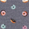 Luxe Flannel Fabric -Tossed Doughnuts Gray Heather