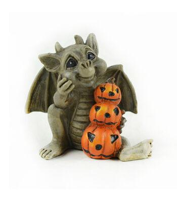 Maker's Halloween Littles Gargoyle with Stacked Pumpkins