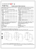 Mccall Pattern V8754 B5 (8-10-1-Vogue Pattern
