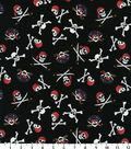 Novelty Cotton Fabric 44\u0027\u0027-Pirate Skulls on Black