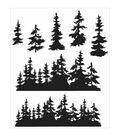 Tim Holtz Cling Stamps 7\u0022X8.5\u0022-Tree Line