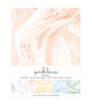 Park Lane 50 pk 8.5''x11'' Value Papers-Marble, , hi-res