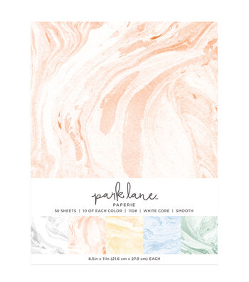 Park Lane 50 pk 8.5''x11'' Value Papers-Marble