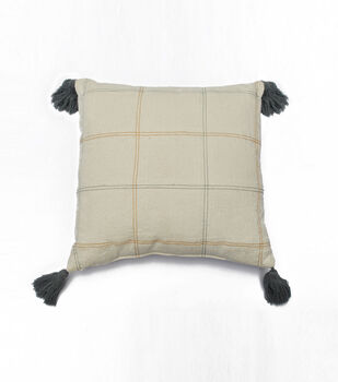 Simply Autumn 18''x18'' Pillow-Plaid