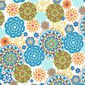Quilter\u0027s Showcase Cotton Fabric -Blue, Green & Orange Medallions