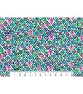 Modern Premium Cotton Print Fabric 43\u0027\u0027-Dark Patterned Triangles