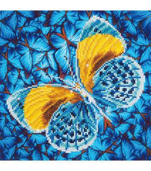 Diamond Dotz Diamond Embroidery Facet Art Kit 15''X15''-Flutter By Gold