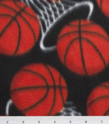 Blizzard Fleece Fabric 59''-Basketball In The Hoop