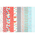 Jelly Roll Cotton Fabric Pack 2.5\u0027\u0027x42\u0027\u0027-Trend Metallic