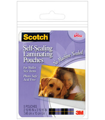 Scotch Self-Sealing Laminating Pouches 5pk