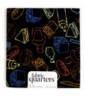 Fabric Quarters Cotton Fabric 18\u0022-Assorted Food Patterns