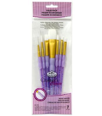 Royal & Langnickel Variety Brush Set 7pk-White Taklon